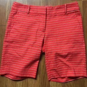 J. Crew Polka Dot Cotton Walking Shorts